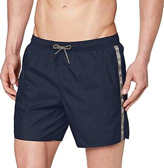 Emporio Armani Mens Boxer Beachwear Logo Tape Swim Trunks, Blue (Blu Navy 06935), Medium (Size: 50)