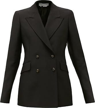 Gabriela Hearst Angela Double-breasted Wool-blend Jacket - Womens - Black