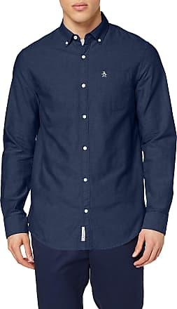 Original Penguin Mens Core Oxford Casual Shirt, Blue (Dark Sapphire 413), Medium (Size:Medium)