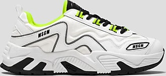 Msgm vortex sneakers with fluorescent details