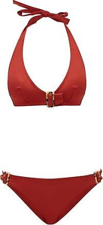 Eres Halterneck Tortoiseshell Buckle Bikini - Womens - Red