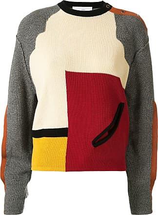 Toga Archives Suéter color block com detalhe vazado - Vermelho