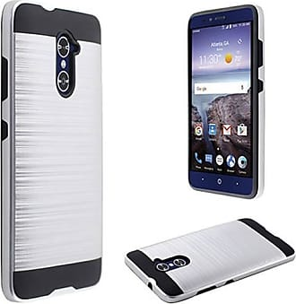 Mundaze Mundaze Silver Brushed Metal Double layer Case Cover for ZTE Grand X Max 2 Imperial Max