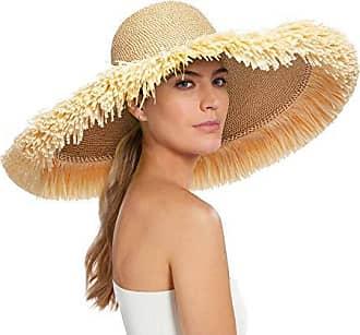 Eric Javits Luxury Womens Designer Headwear Hat - Floppy with Fringe -  Peanut 937c039c72df