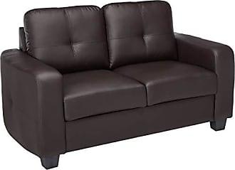 Coaster Fine Furniture Jasmine Bonded Leather Loveseat Dark Brown