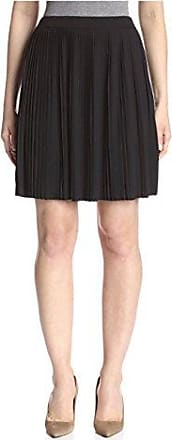 Joan Vass Womens Pleated Skirt, Pitch Black, 2