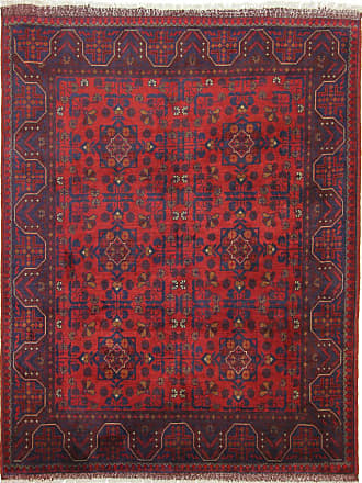 Nain Trading 199x154 Khal Mohammadi Rug Dark Brown/Rust (Afghanistan, Wool, Hand-Knotted)