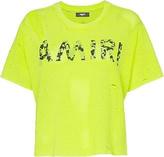 Amiri Logo mesh T-Shirt - Yellow