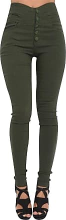 Isshe High Waisted Jeggings For Women Skinny Stretch Trousers Womens Petite Jeggings Ladies High Rise Pants With Buttons Soft Leggings Tight Stretchy Jeggin