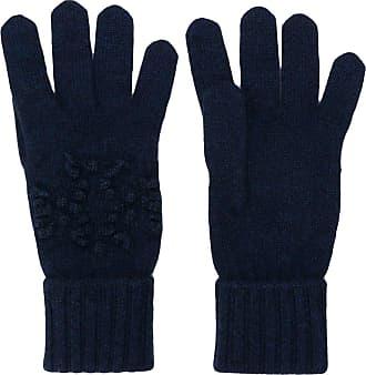 Barrie Par de luvas de tricô com logo - Azul