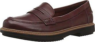 Clarks Womens Raisie Eletta Penny Loafers, Mahogany Leather, 9.5 M US