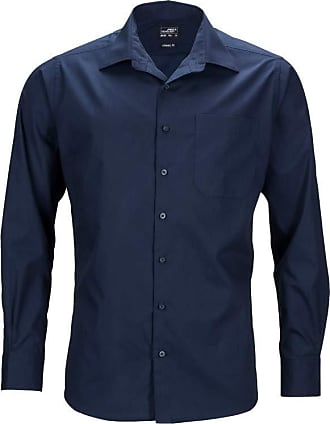 James & Nicholson JN642 Mens Long Sleeve Business Shirt Navy 5XL
