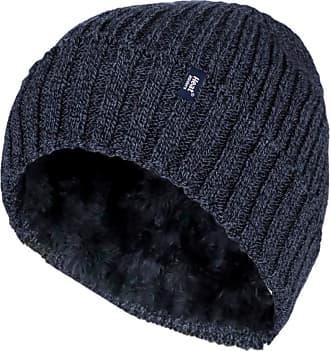 Heat Holders Mens Genuine - HEAT HOLDERS Heatweaver Hats - BRAND NEW DESIGNS (Navy - Turn Over RIB)