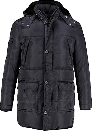 JP1880 Mens Big & Tall Hooded Parka Dark Navy XXXX-Large 716934 76-4XL