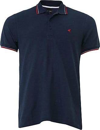 Malwee Camisa Polo Malwee Slim Listras Azul-Marinho