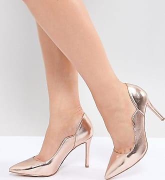 ea4a34c86225 Faith Cassandra Rose Gold Pointed Heeled Shoes