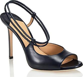 Tamara Mellon Nouvelle Navy Capretto Sandals, Size - 40.5