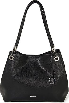 L.Credi High-quality faux leather bag L. Credi black