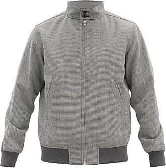 A.P.C. Laurel Houndstooth Twill Jacket - Mens - Dark Grey