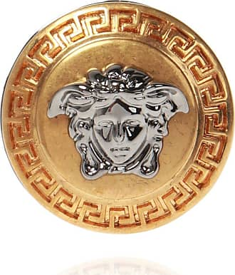 Versace Ring With Logo Mens Gold
