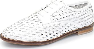 Lunar Ardo Weaved Leather Oxford Shoe 6 UK White