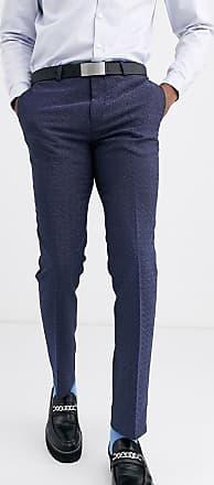 Twisted Tailor Pantaloni da abito super skinny blu puntinato