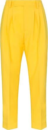 Plan C Calça cropped - Amarelo