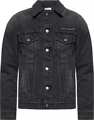 Palm Angels Distressed Denim Jacket Mens Black