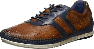 Bugatti Mens 321700034040 Low-Top Sneakers, Brown (Cognac/Dark Blue 6341), 9.5 UK