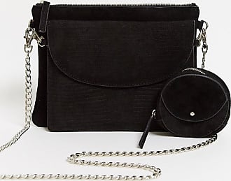 Urban Code leather cross body bag with removable clutch and coin purse-Black