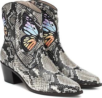 Sophia Webster Shelby snake-effect ankle boots