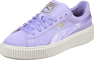 7a36cacaf51668 Puma Suede Platform Mono Satin W Schuhe lavender