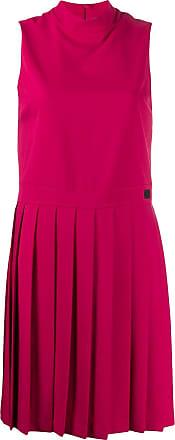 Blumarine Vestido com detalhe de pregas - Rosa