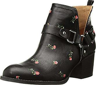 Madden Girl Womens FINIAN Ankle Boot, Black/Multi, 8.5 M US