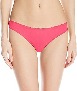 OnGossamer Womens Intimate Apparel Mesh Low-Rise Thong Panty, Vermillion, Small