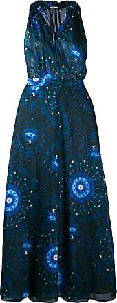 Department 5 Vestido com cinto e estampa abstrata - Azul