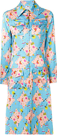 Ultra Chic abstract print shirt dress - Blue