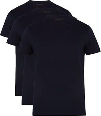 Prada Pack Of Three Cotton-jersey T-shirts - Mens - Navy