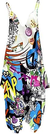 Islander Fashions Womens Plus Size Spaghetti Strap Jumpsuit V Neckline Loose Harem One Piece Romper (3X-Large, Comic Bang)