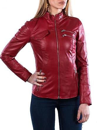 Leather Trend Italy Michelina - Giacca Donna in Vera Pelle colore Rosso Morbida