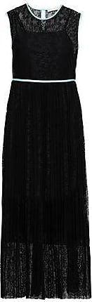 Maje Maje Woman Satin-trimmed Lace Midi Dress Black Size 3