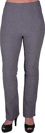 Eyecatch Womens Pull On Ribbed Stretch Bootleg Elasticated Trousers Ladies Pants Regular Leg Grey Size 18