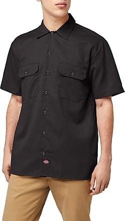 Dickies mensShort-Sleeve Work Shirt Short Sleeve Button-Down Shirt - Black - XXXXXL