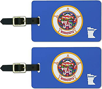Graphics & More Graphics & More Minnesota Mn Home State Luggage Suitcase Id Tags-Flag, White