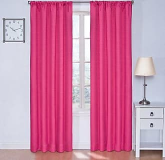 Eclipse Blackout Curtains for Bedroom - Kendall 42 x 63 Insulated Darkening Single Panel Rod Pocket Window Treatment Living Room, Raspberry