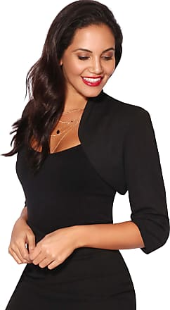 Krisp Tailored Cropped Evening Shrug (Black (6706), UK 16), 6706-BLK-16