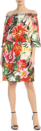 Blumarine Bare-shoulder floral multicolor dress