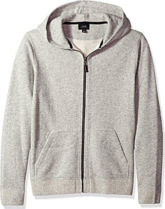 Joe's Mens Baby Alpaca Wool French Terry Full Zip Hoodie, Heather Oats XL