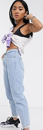Noisy May Mom jeans lavaggio chiaro-Blu