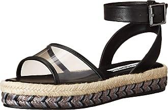 Karl Lagerfeld Womens Platform Sandal, Black, 6.5